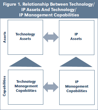 Figure 1. Relationship Between Technology/ IP Assets And Technology/ IP Management Capabilities