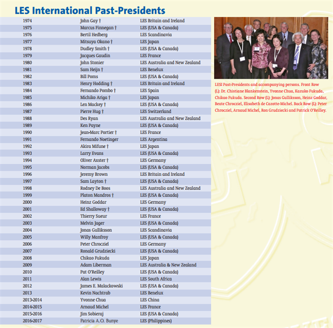 LESI Past Presidents 2015