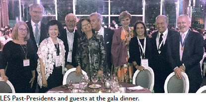 LES Past-Presidents and guests at the gala dinner.